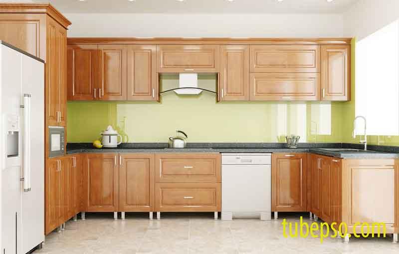 Tủ bếp gỗ Dổi – đặc tính ổn định và hiệu quả cao