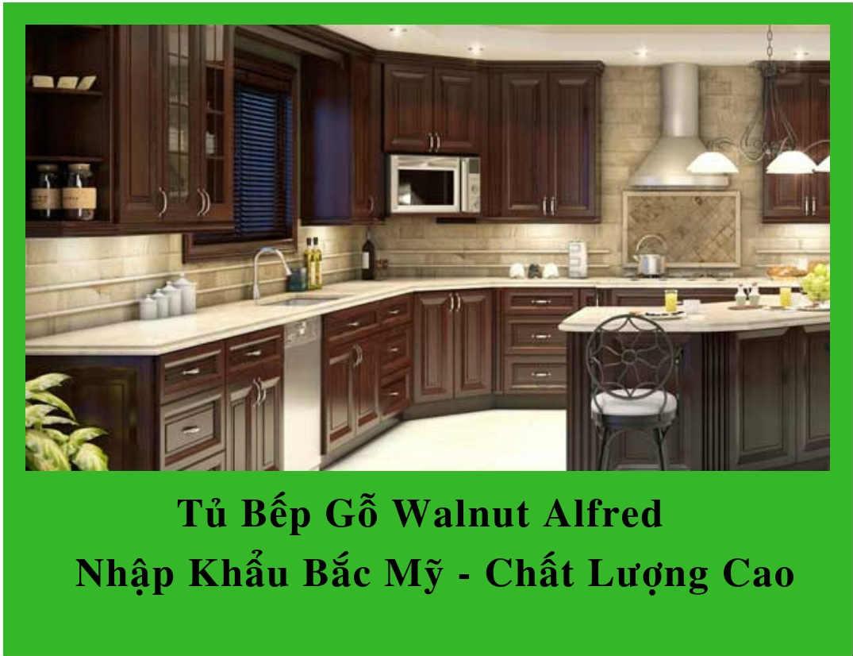 Tủ Bếp Gỗ Walnut Alfred | Nhập Khẩu Bắc Mỹ – Chất Lượng Cao