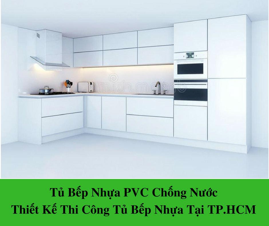 Tủ Bếp Nhựa PVC – Thiết Kế Thi Công Tủ Bếp Nhựa Tốt Nhất Tp.HCM