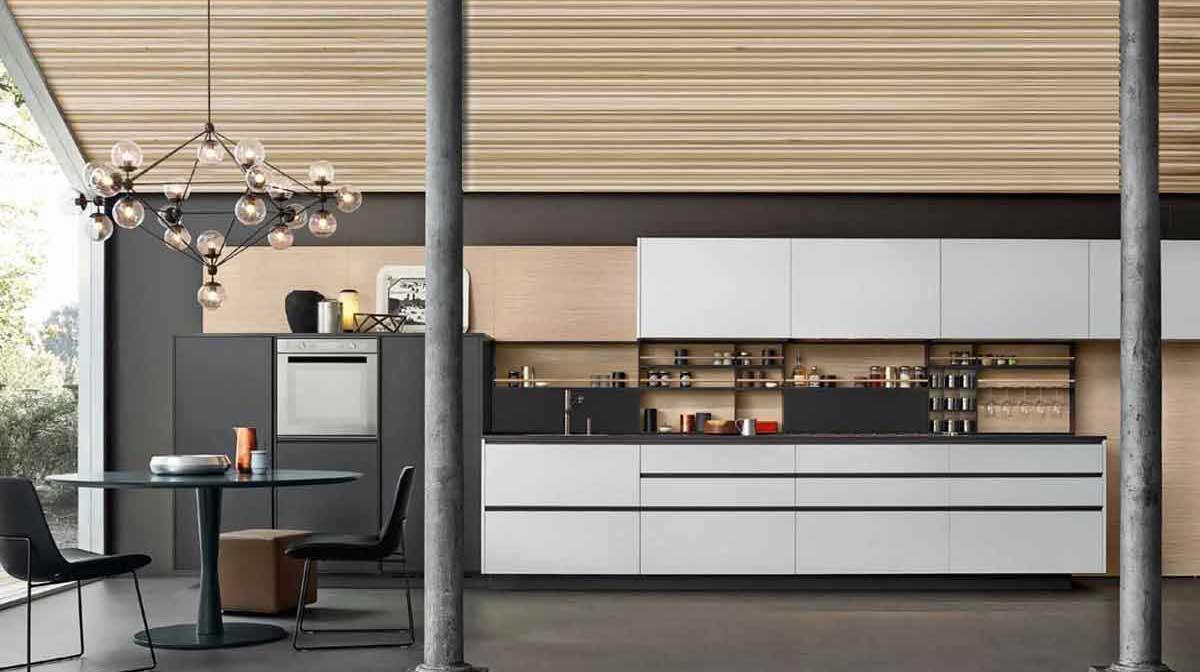 Tủ bếp bằng gỗ CDF