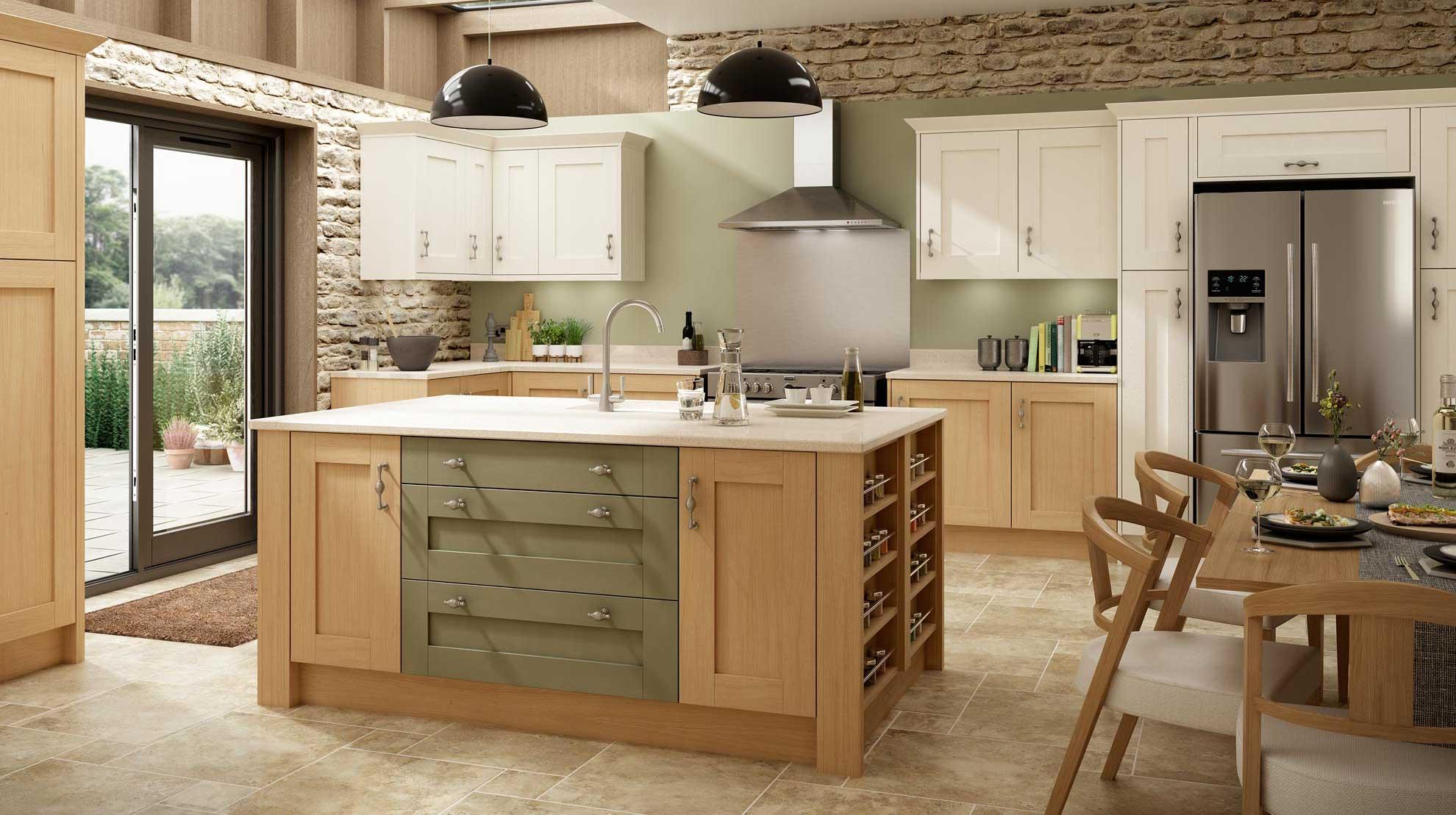 Tủ bếp gỗ Tần Bì Adeline