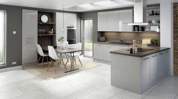 Tủ bếp nhực PVC đẹp và hiện đại
