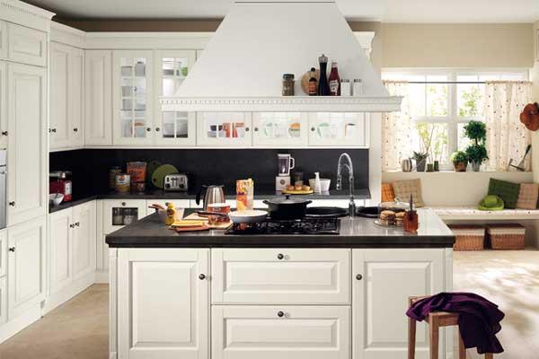 Mẫu tủ bếp có bàn đảo b