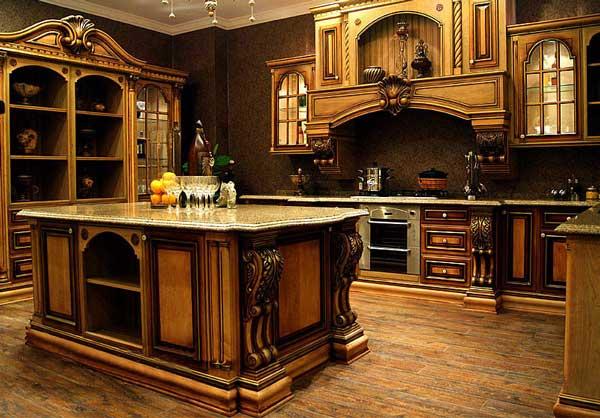 Tủ bếp cổ điển c
