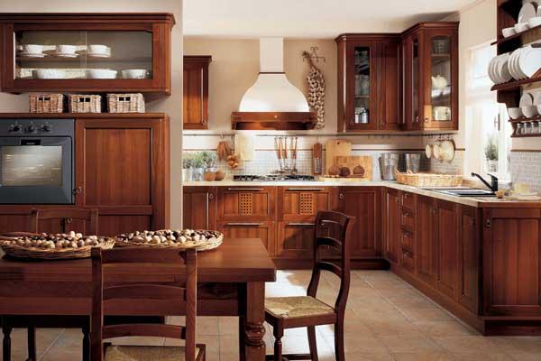Tủ bếp cổ điển d