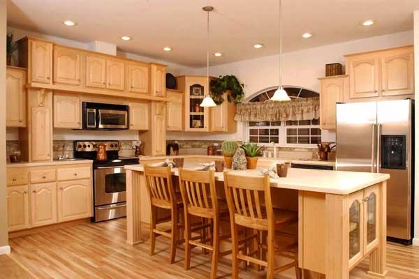 Tủ bếp gỗ sồi a