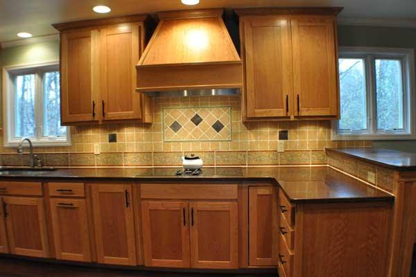 Tủ bếp gỗ sồi b