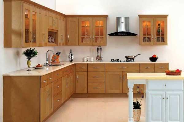 Tủ bếp gỗ sồi e