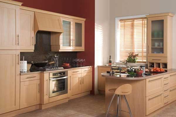 Tủ bếp gỗ dổi h