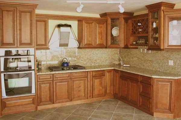 Tủ bếp gỗ gõ đỏ h