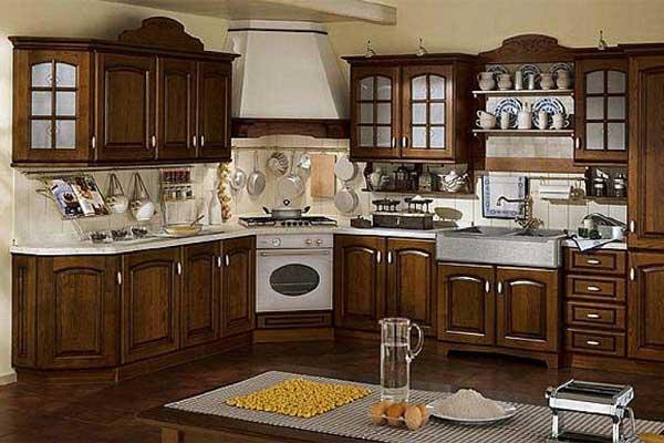 Tủ bếp gỗ hương a