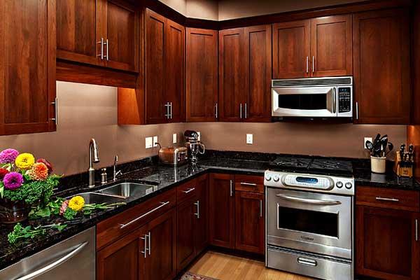 Tủ bếp gỗ hương c