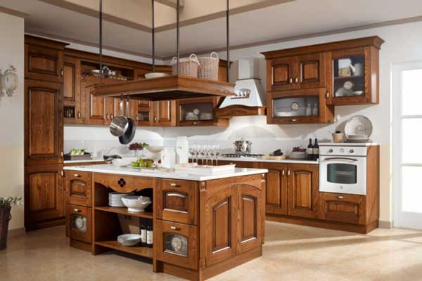 Tủ bếp gỗ hương e