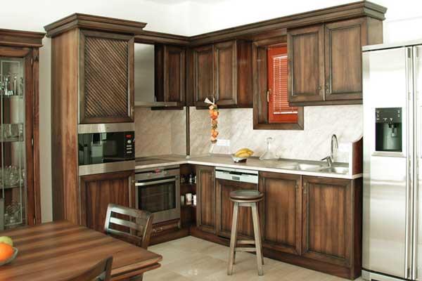 Tủ bếp gỗ hương k