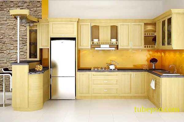 Tủ bếp gỗ pơ mu b