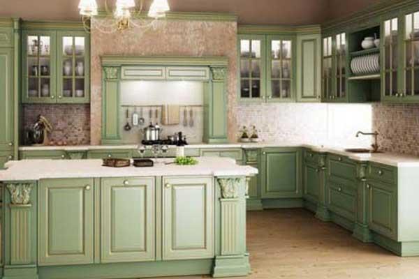Tủ bếp gỗ sồi h