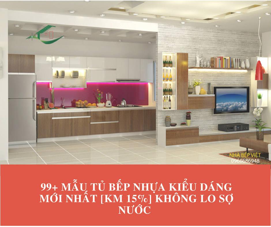 20+ Mẫu tủ bếp đẹp giá rẻ những khiến gian bếp đẹp hơn [KM 5% + Lắp đặt tận nơi]