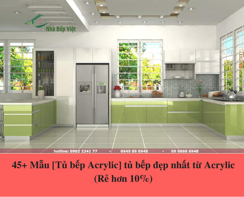 45+ Mẫu [Tủ bếp Acrylic] tủ bếp đẹp nhất từ Acrylic (Rẻ hơn 10%)