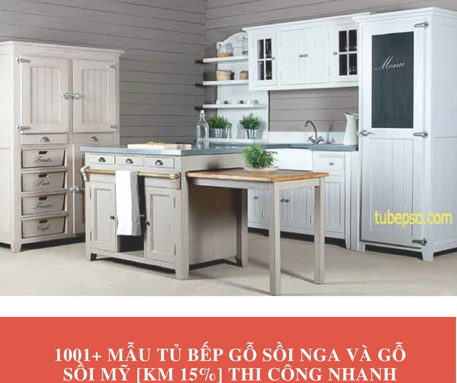1001+ Mẫu tủ bếp gỗ sồi Nga và gỗ sồi Mỹ [KM 15%] Thi Công Nhanh