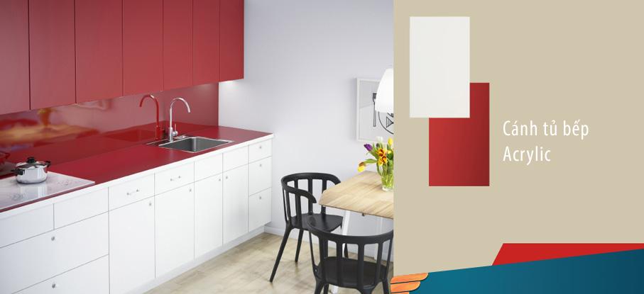 [Tủ bếp gỗ Acrylic] 10+ Mẫu tủ bếp đẹp nhất làm từ Acrylic   Mẫu Tủ Bếp Đẹp Cho Không Gian Đẹp