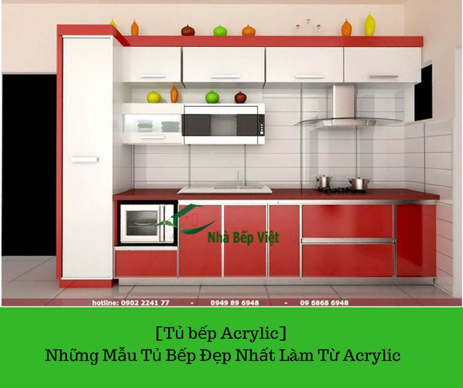 [Tủ bếp Acrylic] Những Mẫu Tủ Bếp Đẹp Nhất Tàm Từ Acrylic