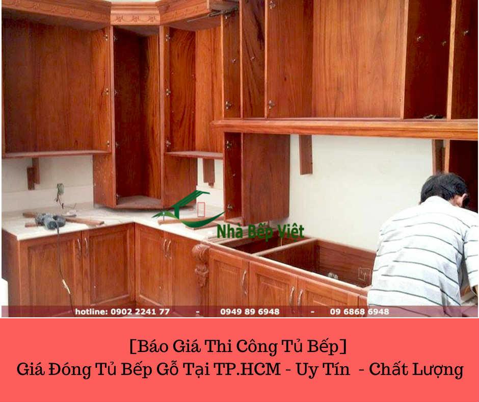 [Báo Giá Thi Công Tủ Bếp] Giá Đóng TỦ BẾP GỖ Tại TP.HCM