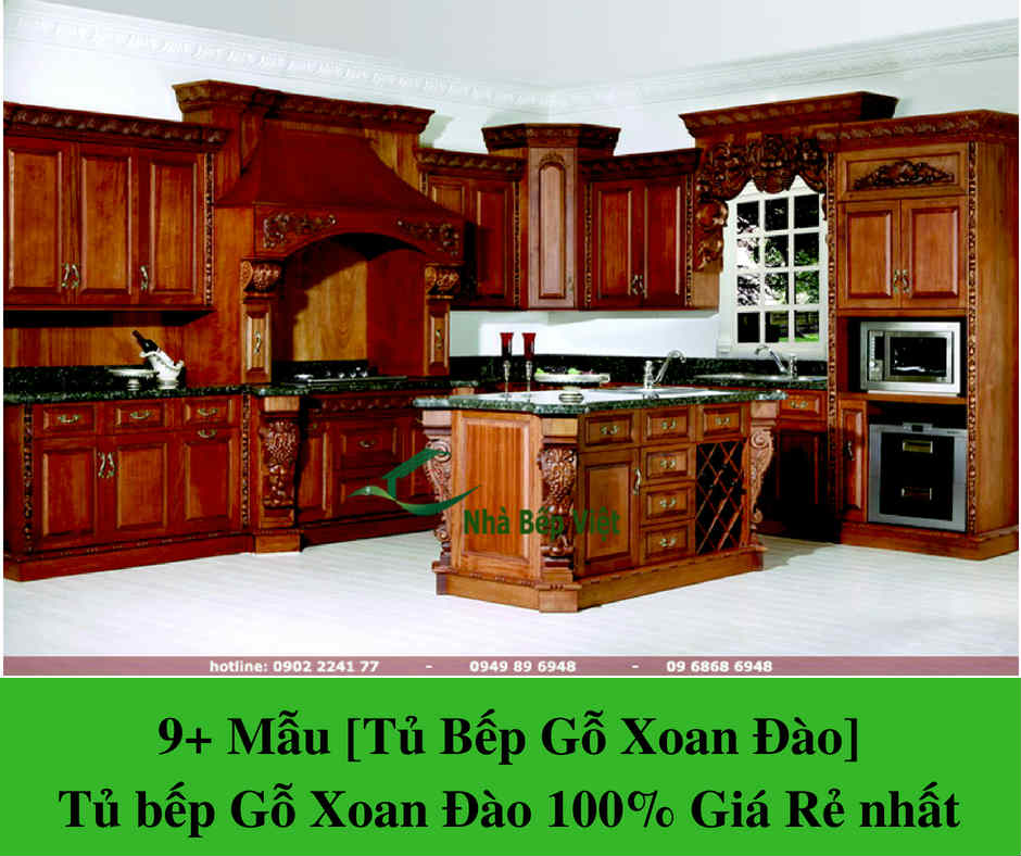 9+ Mẫu [Tủ Bếp Gỗ Xoan Đào] Tủ bếp Gỗ Xoan Đào 100% Giá Rẻ nhất