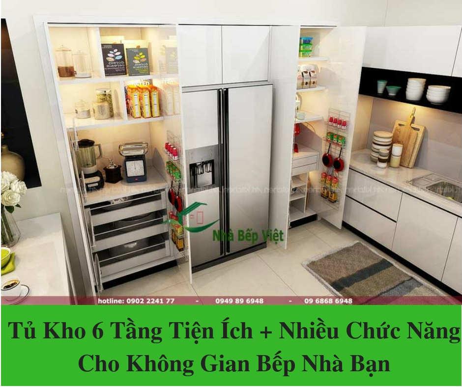 """""""Tủ Kho 6 Tầng"""" Tiện Ích + Nhiều Chức Năng Cho Không Gian Bếp Nhà Bạn"""