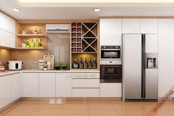 Mẫu tủ bếp cao trần k