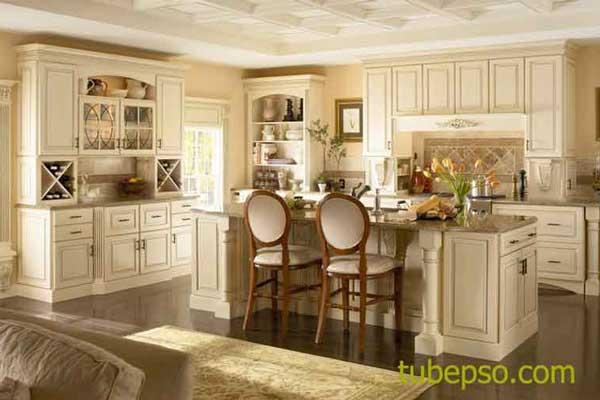 Mẫu tủ bếp có bàn đảo m