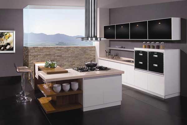 Mẫu tủ bếp có bàn đảo n