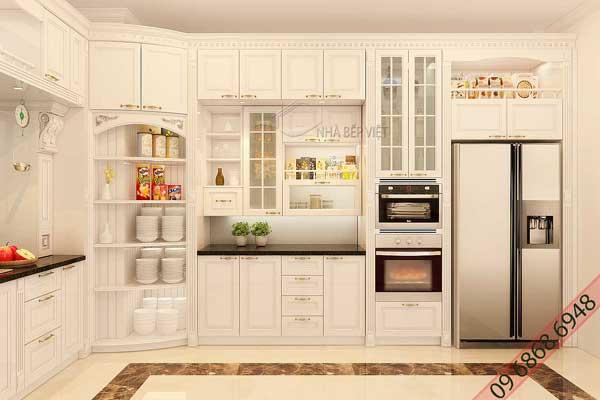 Mẫu tủ bếp cao trần d