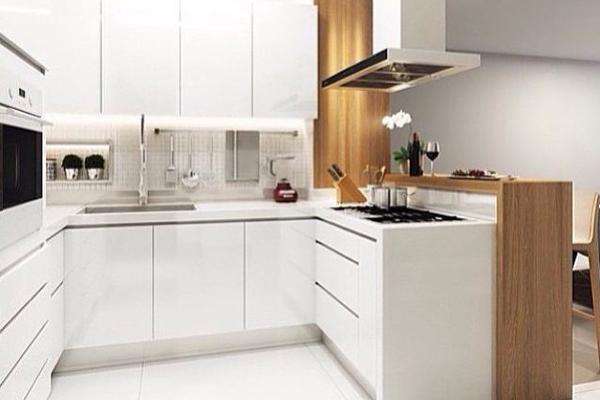 Tủ bếp acrylic e