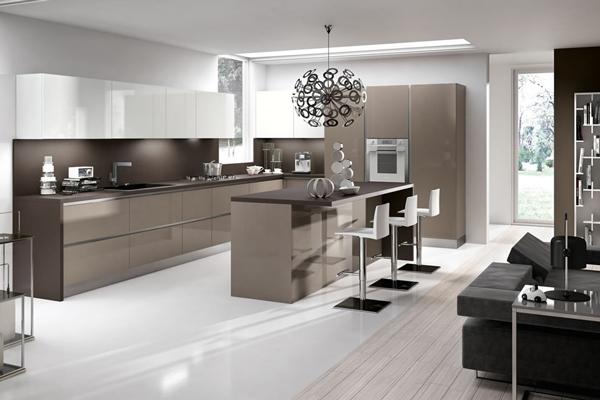 Tủ bếp acrylic g