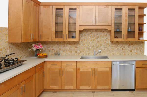 Tủ bếp gỗ Ash b
