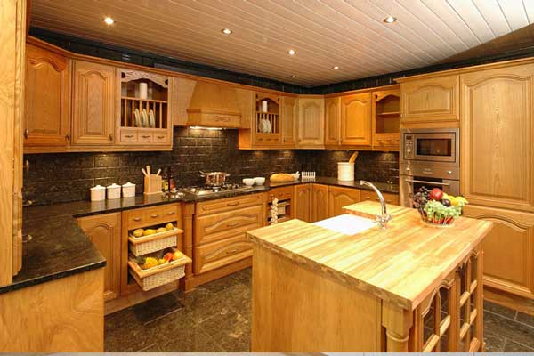 Tủ bếp gỗ Ash d