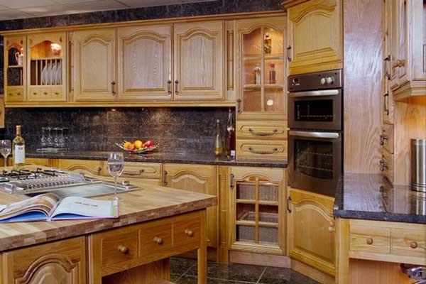 Tủ bếp gỗ Ash g