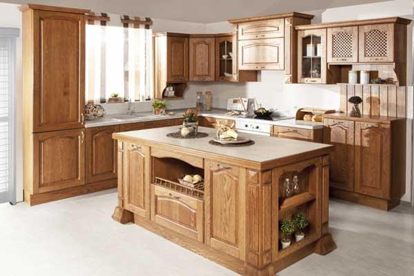 Tủ bếp gỗ gõ đỏ d