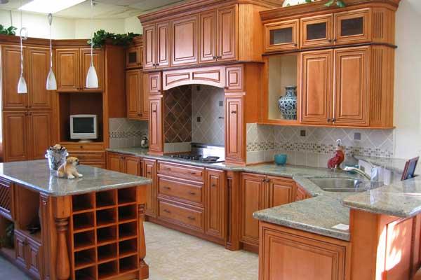 Tủ bếp gỗ gõ đỏ k
