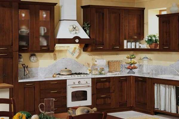 Tủ bếp gỗ hương d