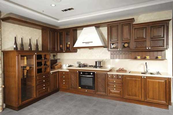 Tủ bếp gỗ hương h