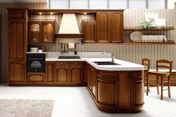 Tủ bếp gỗ việt b