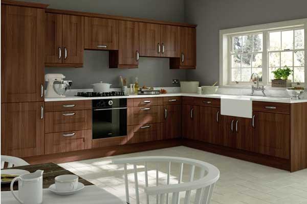 Tủ bếp gỗ walnut a