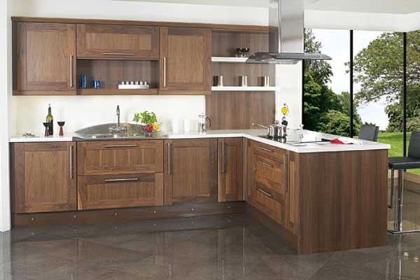 Tủ bếp gỗ walnut d
