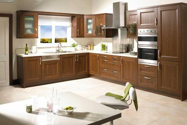 Tủ bếp gỗ walnut e