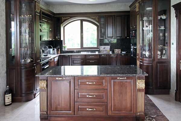 Tủ bếp gỗ walnut g