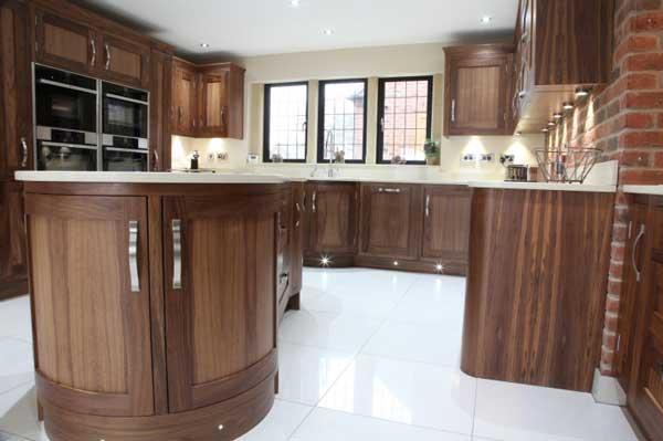 Tủ bếp gỗ walnut i