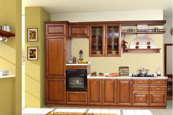Tủ bếp gỗ xoan đào a