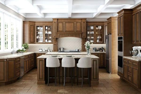 Tủ bếp gỗ xoan đào i
