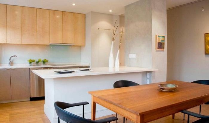 Tủ Bếp Gỗ Đẹp Có Thiết Kế Hình Chữ I Hợp Với Những Ngôi Nhà Nhỏ
